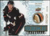 2010/11 Upper Deck Rookie Materials Patches #RMCF Cam Fowler /25