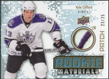 2010/11 Upper Deck Rookie Materials Patches #RMKC Kyle Clifford /25
