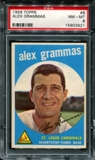 1959 Topps Baseball #6 Alex Grammas PSA 8 (NM-MT) *3921