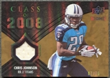 2008 Upper Deck Icons Class of 2008 Jersey Gold #CO9 Chris Johnson /75