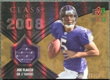 2008 Upper Deck Icons Class of 2008 Jersey Gold #CO19 Joe Flacco /75