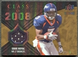 2008 Upper Deck Icons Class of 2008 Jersey Gold #CO31 Eddie Royal /75