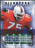 2004 Upper Deck Foundations Signature Foundations #SFVW Vince Wilfork Autograph