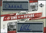 2004 Upper Deck Legends Link to the Future Autographs #LFHH Joe Horn Devery Henderson Autograph /50