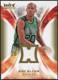 2008/09 Upper Deck Hot Prospects Hot Materials #HMRA Ray Allen