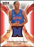 2008/09 Upper Deck Hot Prospects Hot Materials Red #HMTP Tayshaun Prince 22/25