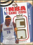 2008/09 Upper Deck Hot Prospects NBA Game Issue Jerseys #NBACA Carmelo Anthony /149