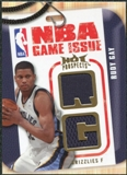 2008/09 Upper Deck Hot Prospects NBA Game Issue Jerseys #NBARG Rudy Gay /149