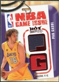 2008/09 Upper Deck Hot Prospects NBA Game Issue Jerseys Red #NBAPG Pau Gasol /25