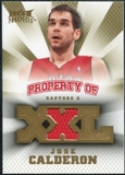2008/09 Upper Deck Hot Prospects Property of Jerseys #POJC Jose Calderon /199
