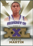 2008/09 Upper Deck Hot Prospects Property of Jerseys #POKM Kevin Martin /199