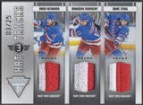 2011/12 Panini Titanium #20 Brad Richards Brandon Dubinsky Marc Staal Hat Tricks Patch #03/25