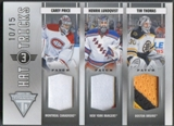 2011/12 Panini Titanium #13 Carey Price Henrik Lundqvist Tim Thomas Hat Tricks Patch #10/15
