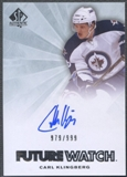 2011/12 SP Authentic #226 Carl Klingberg Rookie Auto #979/999