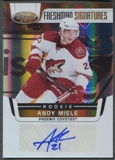 2011/12 Certified #229 Andy Miele Mirror Gold Auto #18/25
