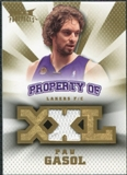 2008/09 Upper Deck Hot Prospects Property of Jerseys #POPG Pau Gasol /199