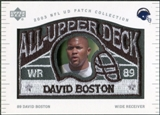 2003 UD Patch Collection All Upper Deck Patches #UD10 David Boston