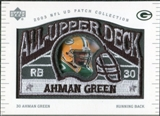 2003 UD Patch Collection All Upper Deck Patches #UD12 Ahman Green