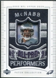 2003 Upper Deck UD Patch Collection #153 Donovan McNabb AP