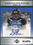 2006 Upper Deck AFL Arenagraphs #DL Derek Lee Autograph