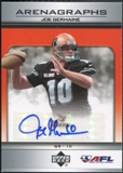 2006 Upper Deck AFL Arenagraphs #JG Joe Germaine Autograph