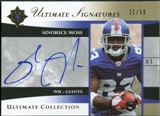 2006 Upper Deck Ultimate Collection Ultimate Signatures #USSM Sinorice Moss Autograph /99