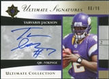2006 Upper Deck Ultimate Collection Ultimate Signatures #USTJ Tarvaris Jackson Autograph /99