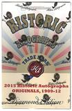 2015 Historic Autograph Originals 1909-1912 Diamond Edition Baseball Hobby Box