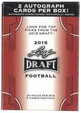 2015 Leaf Draft Football 20-Pack Box (Lot of 5)