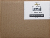 2015 Leaf Ultimate Draft Football Hobby 10-Box Case