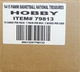 2014/15 Panini National Treasures Basketball Hobby 3-Box Case