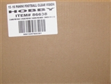2015 Panini Clear Vision Football Hobby 18-Box Case