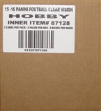 2015 Panini Clear Vision Football Hobby 9-Box Case