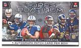 2015 Topps Platinum Football Hobby Box