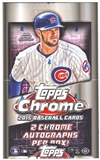 2015 Topps Chrome Baseball Hobby Box