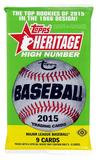 2015 Topps Heritage High Number Baseball Hobby Pack