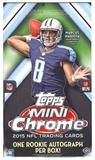 2015 Topps Mini Chrome Football Hobby Box