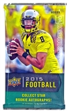 2015 Upper Deck Football Hobby Pack (due March)
