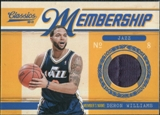 2010/11 Panini Classics Membership Materials #34 Deron Williams /499