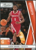 2010/11 Panini Prestige Bonus Shots Orange #37 Aaron Brooks /499