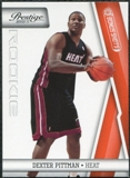 2010/11 Panini Prestige Bonus Shots Orange #240 Dexter Pittman /499