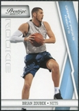 2010/11 Panini Prestige Draft Picks Light Blue #185 Brian Zoubek /999