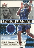 2001/02 Fleer Ultra League Leaders Game Worn #8 Tracy McGrady /450