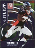 2011 Panini Donruss Elite Hit List Gold #26 Von Miller BF