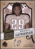 2008 Upper Deck SP Authentic Rookie Leatherheads Autographs #LHCJ Chris Johnson 2/150