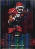 2012 Leaf Metal Draft Prismatic Red #JW1 Jarius Wright Autograph 5/5