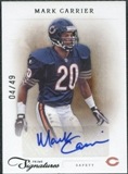 2011 Panini Prime Signatures Autographs Silver #115 Mark Carrier 4/49