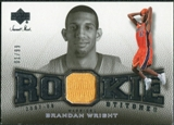 2007/08 Upper Deck Sweet Shot Rookie Stitches #BW Brandan Wright /99