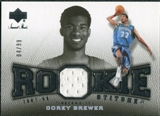2007/08 Upper Deck Sweet Shot Rookie Stitches #CB Corey Brewer /99