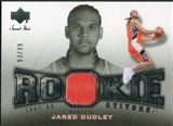 2007/08 Upper Deck Sweet Shot Rookie Stitches #JD Jared Dudley /99